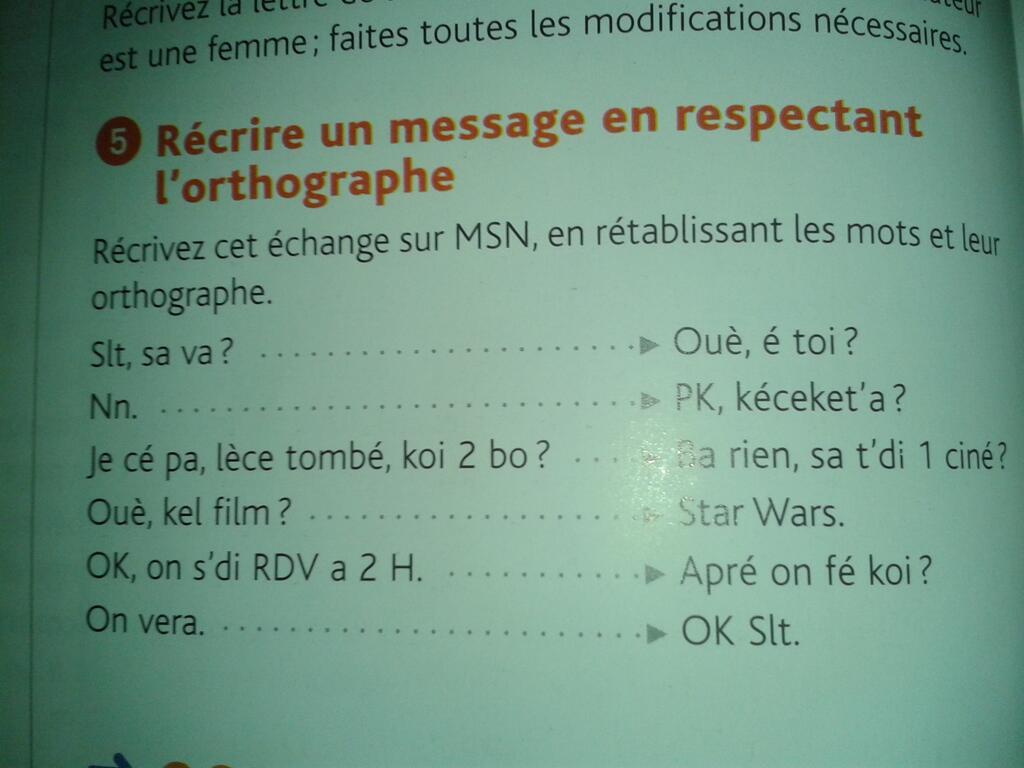 SMS et français